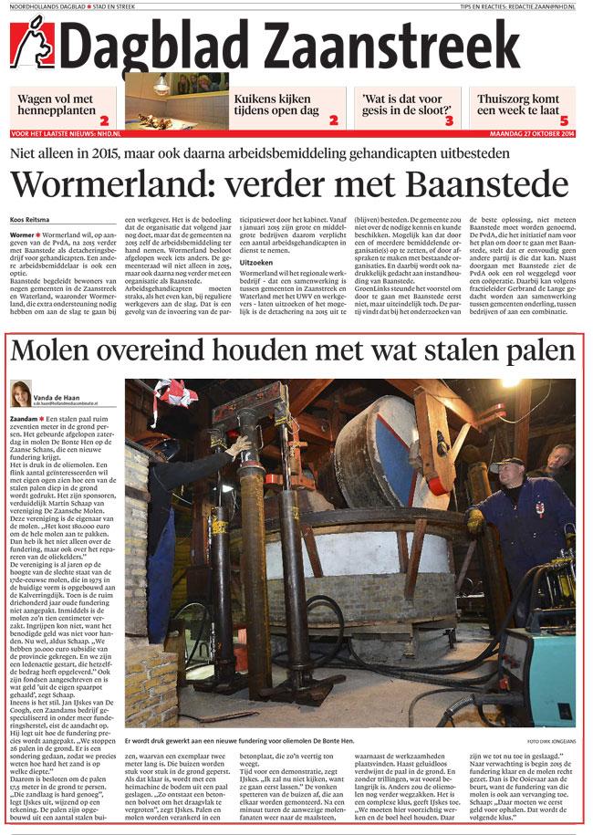 Dagblad Zaanstreek De Bonte Hen